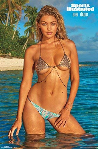 Gigi Hadid Fashion Model Sports Illustrated Swimsuit Poster Print 24 By36