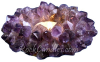 Amethyst Crown Point Candle Holder