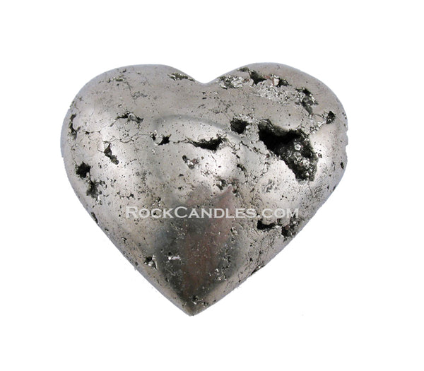 Medium Polished Pyrite Heart
