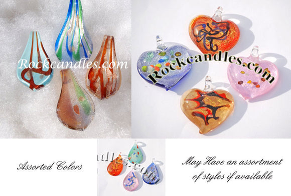 Glass Foil Pendants Assorted 50 Pack