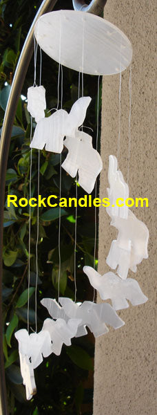 White Onyx Elephant Windchime