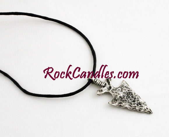Metal Brave Arrowheads Necklace