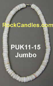 Whole White Puka Necklaces Jumbo 11-15mm