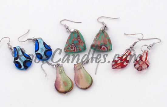 Assorted Glass Foil Earrings