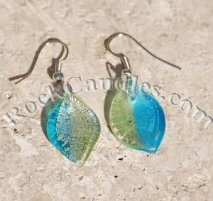 Lime Glass Foil Earrings