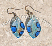 Flower Glass Foil Earrings
