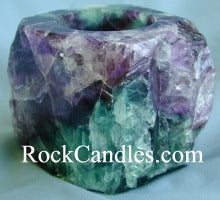 Rough Fluorite Candle Holder