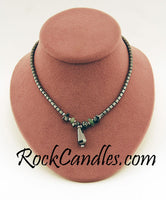 Hematite Necklace with Green Aventurine Stones