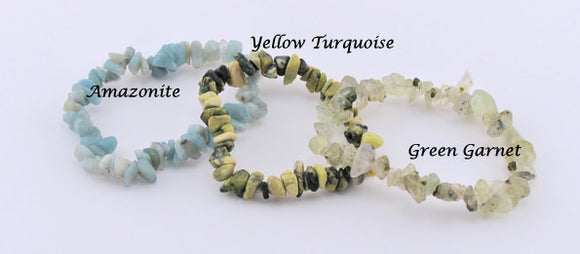 Green Garnet, Amazonite and Yellow Turquoise