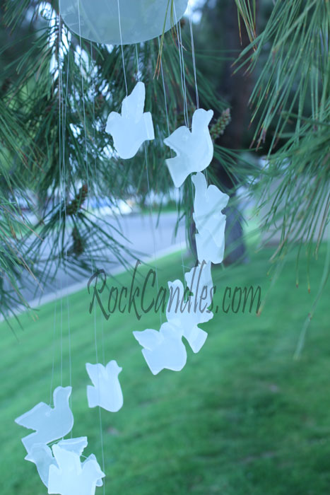 White Onyx Doves Windchime