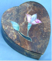 Inlaid Heart Stone Box