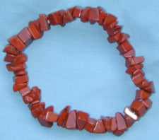 Red Agate Chip Bracelet