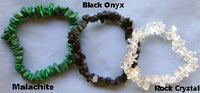 Malachite, Black Onyx, Rock Crystal Chip Bracelet