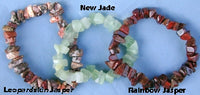 Leopardskin Jasper, New Jade or Rainbow Jasper Chip Bracelet