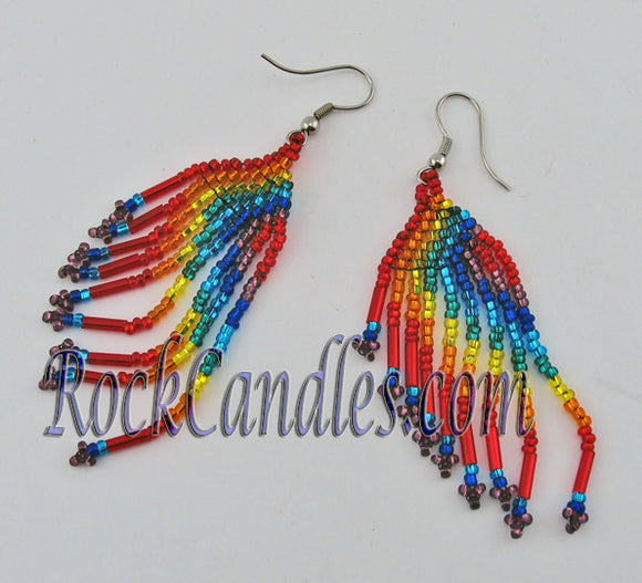 Rainbow Seed bead Earrings