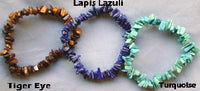 Tiger Eye, Lapis Lazuli, Turquoise Natural Chip Bracelets