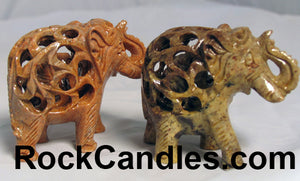 Carved Soapstone Elephant 3""