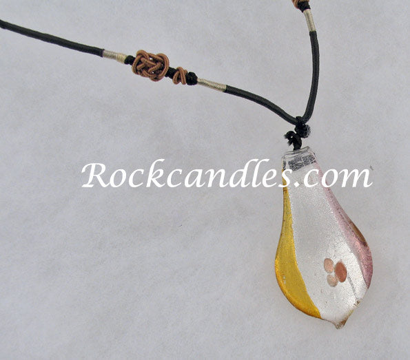 Lemon Raindrop Foil Necklace