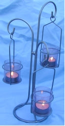 3 Lantern Tea Light Candle Holder