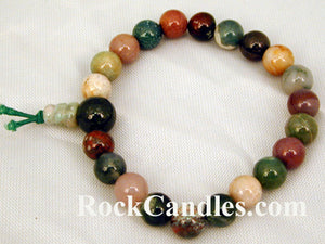 Fancy Jasper Power Bead Bracelet