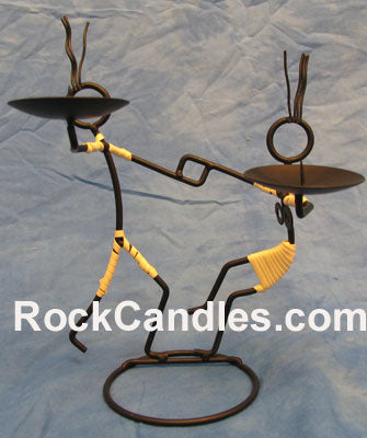 Dancing Women Candle Holder