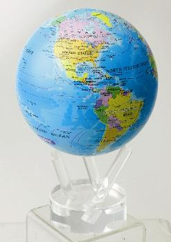 "4.5"" MOVA Globe in Blue Ocean with Political Map"
