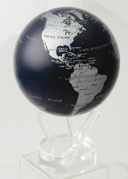 "4.5"" MOVA Globe in Dark Blue & Metallic Silver"