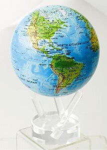 "4.5"" MOVA Globe in Blue Ocean with Relief Map"