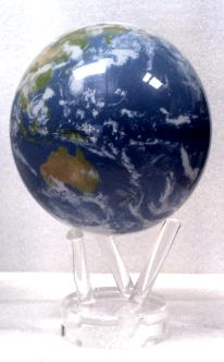 "4.5"" MOVA Globe in Satellite Natural Earth with Cloud Cover"