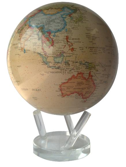 "8.5"" MOVA Globe in Antiqued Beige"