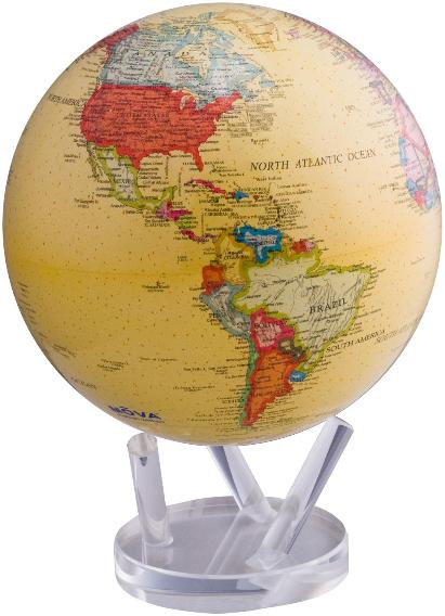 "8.5"" MOVA Globe in Antiqued Yellow"