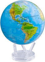 "8.5"" MOVA Globe in Blue Ocean with Relief Map"