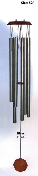 Hand Tuned Octagon Wind Chime Silver