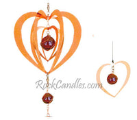 Heart Copper 3D Twister Windchime