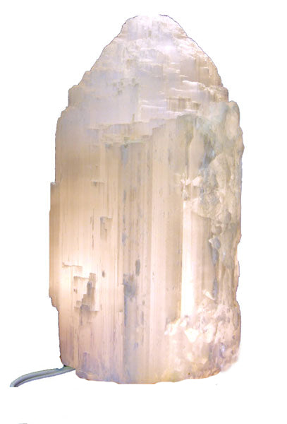 Large Selenite Skyscraper Lamp