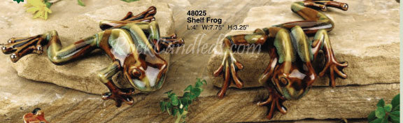 Golden Pond Porcelain Shelf Frog