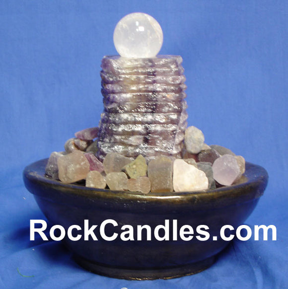 Fluorite Pillar & Sphere Fountain
