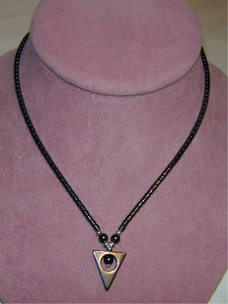 Hematite Triangle Necklace