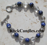 Blue Sodalite Rock Crystal Bracelet