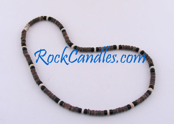 4-5 mm Brown Black & White Coco Necklace