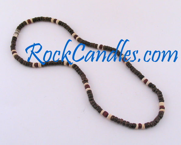 4-5mm Brown Coco w/ Red and White