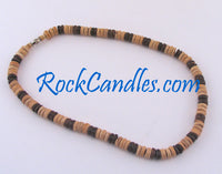 8mm Brown & Natural Brown Coco Necklace