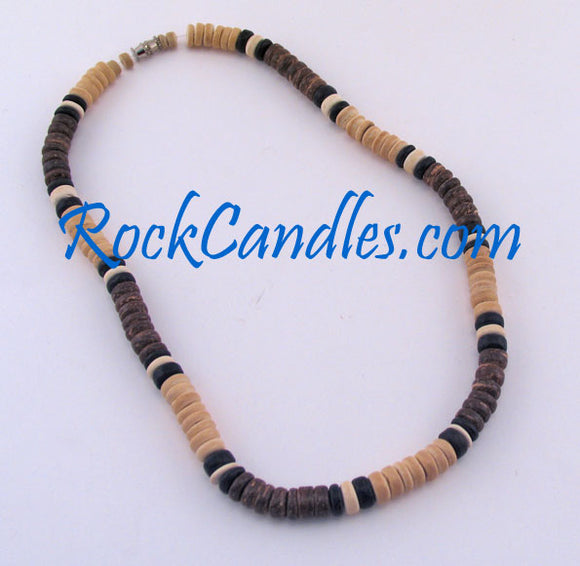 8mm Natural & Brown Coco w/Alternate Black & White
