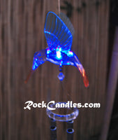 "26"" LED Glowing Chimes With Hummingbird"
