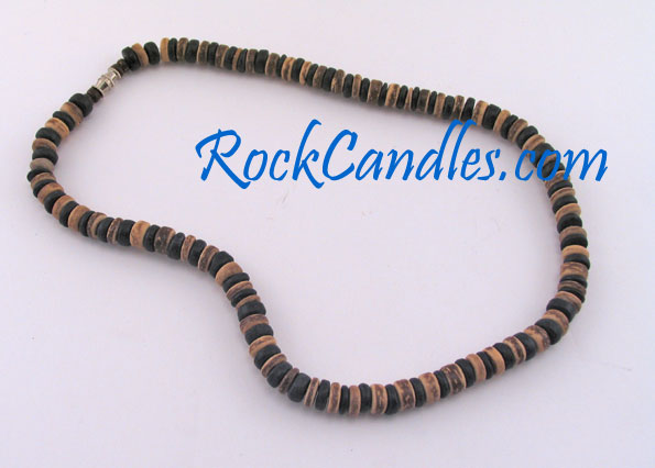 8mm Tiger & Black Coco Bead Necklace