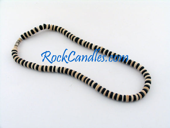 8mm Black & White Coco Alternating Necklace