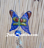 "23"" Stained Glass Butterfly Windchimes"