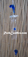 "21"" Solid tube Acrylic Top windchime Dolphin"