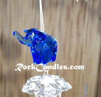 "21"" Solid tube Acrylic Top windchime Elephant"