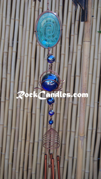 "28"" Copper Glass Wind Chime"